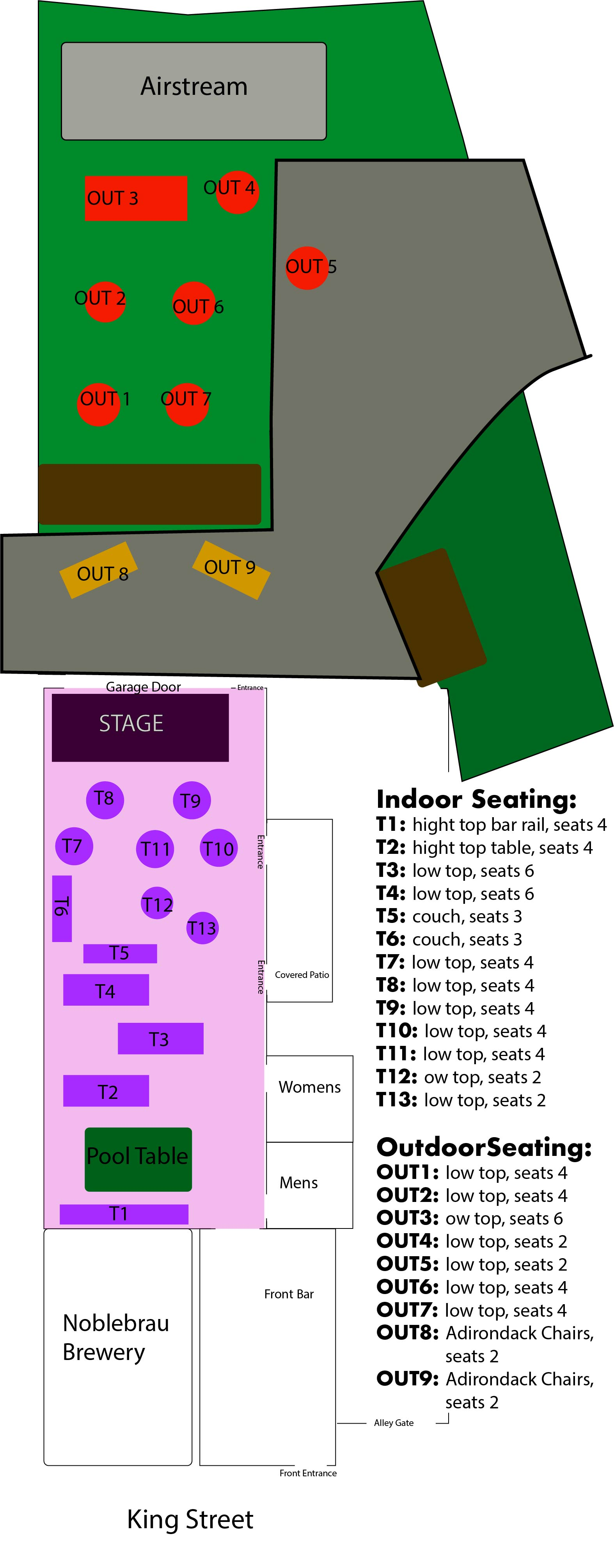 Seating diagram 185